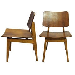 Pair of Chairs by Jens Risoms in Original Condition, American, circa 1940