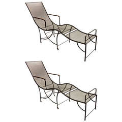 Two Outdoor Chaises Longues, Circa 1920, French