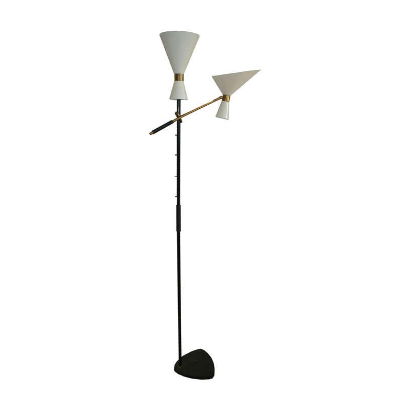 1950s Boom Arm Floor Lamp Produced By J T Kalmar At 1stdibs