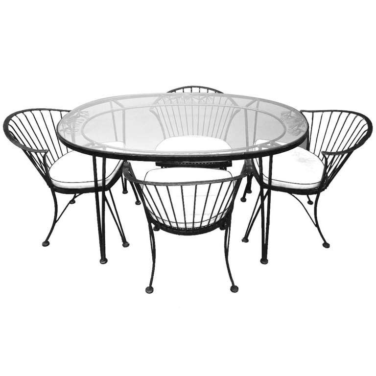 Dining Set by Woodard Pinecrest Line, American, 1950s 1