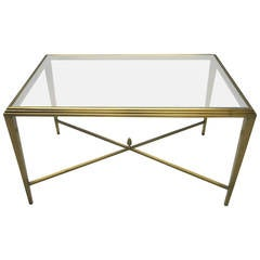 Coffee Table in Solid Brass, NYC circa 1985