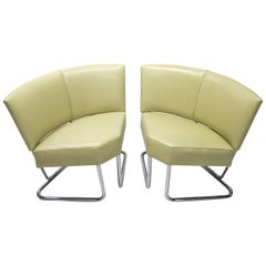 Pair or Arched Back Chairs by Thonet, USA Circa 1940