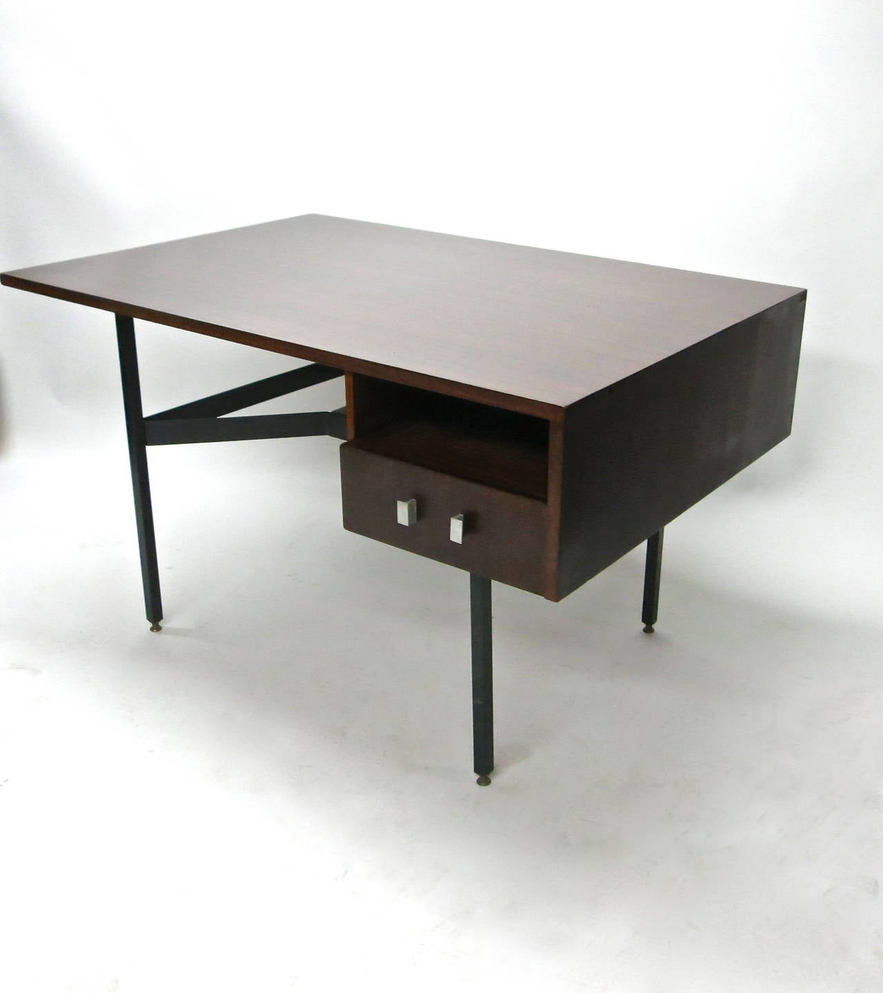 French Partners Desk By Gerard Guermonprez Made In France Circa 1950 For
