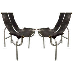 Pair of Chairs TRI 15 by Roberto Gabetti for Arbo, Italy, 1968