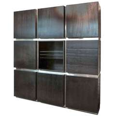 Wall Unit Signed Acerbis Circa 1970 Made in Italy