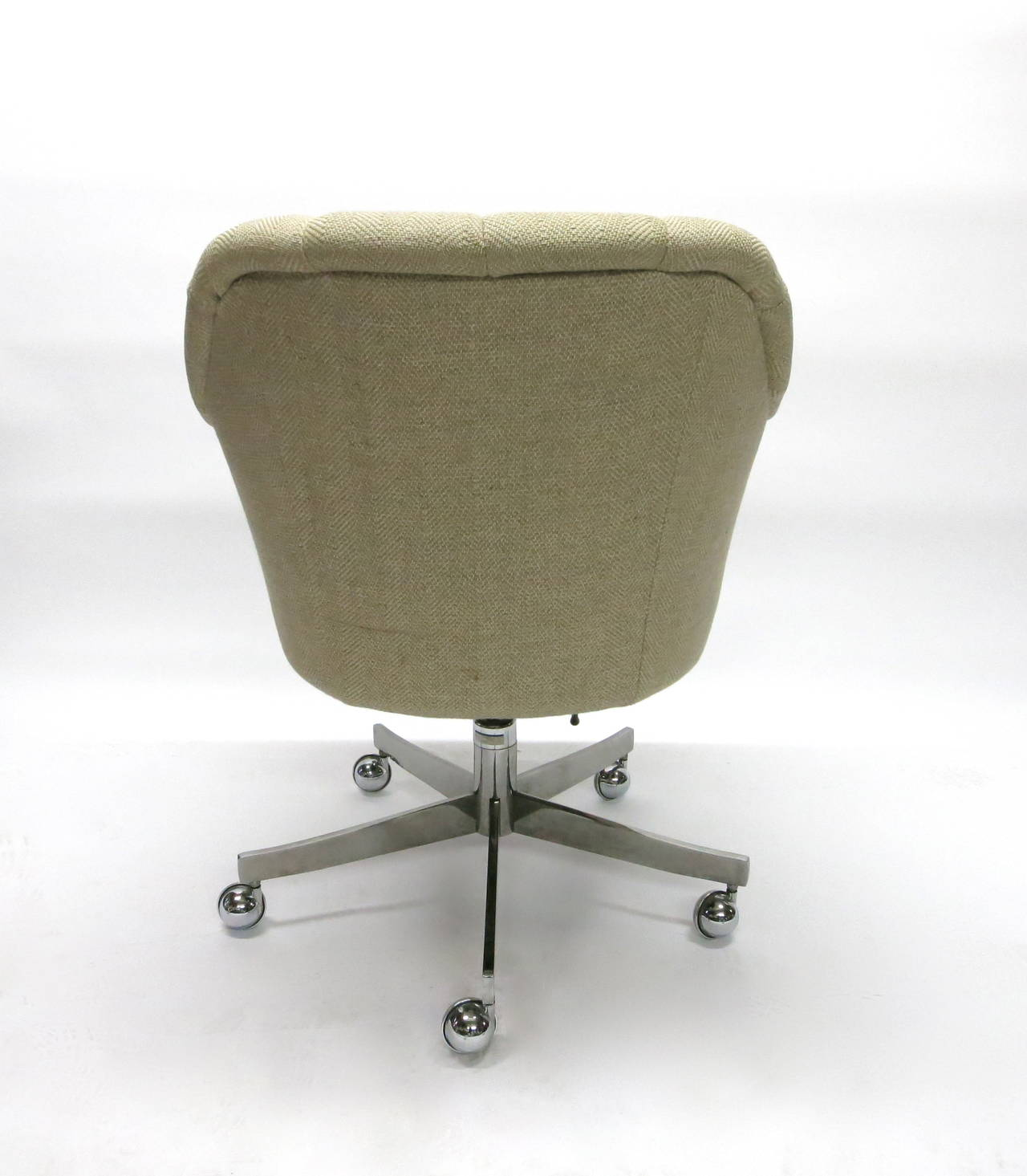 Single Swivel Desk Chair By Ward Bennett For Brickell 1984 Made In USA At 1s