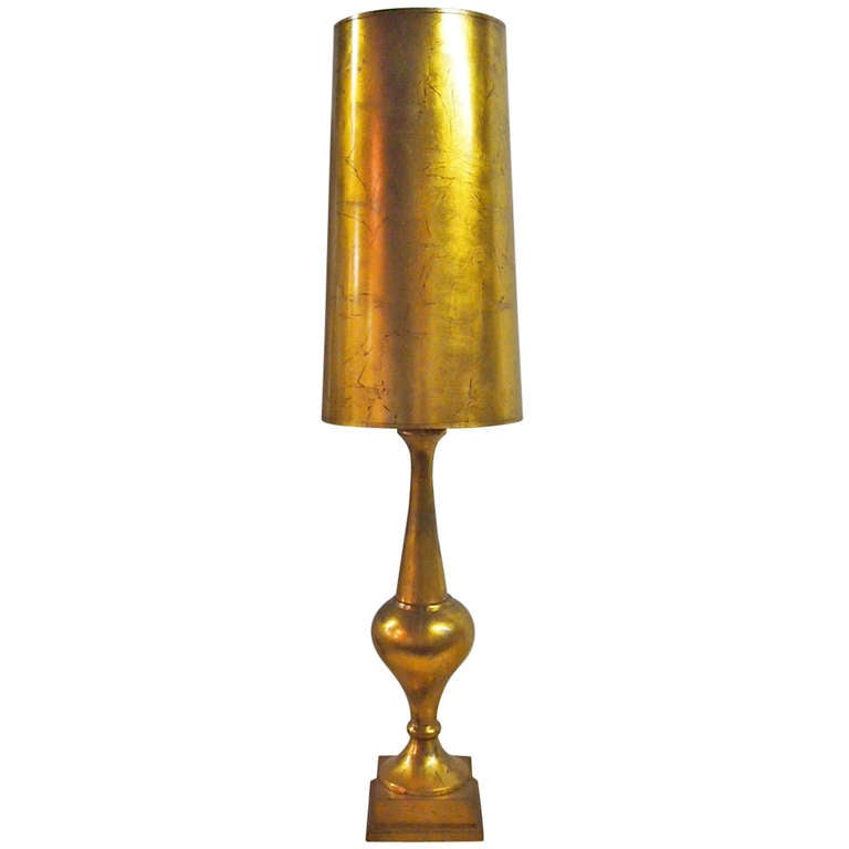 Gilt Table Lamp, may have been done by James Mont 1940's American 1