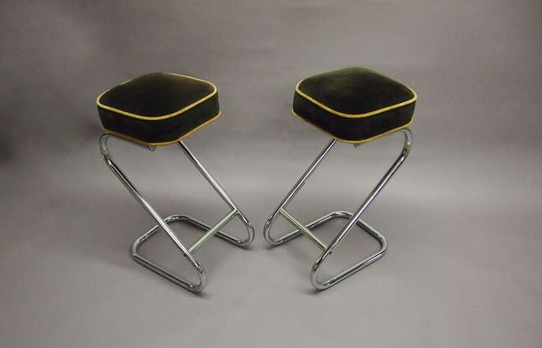 Set of Four Stools By Gilbert Rohde circa 1940 American at 1stdibs