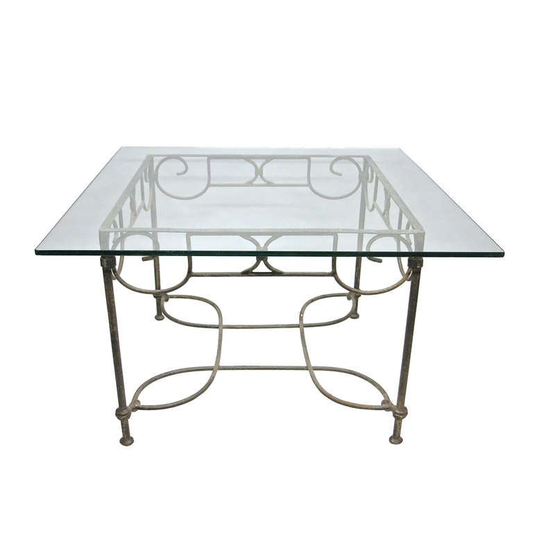 Square Center Table Indoor Or Outdoor France Circa 1940 At