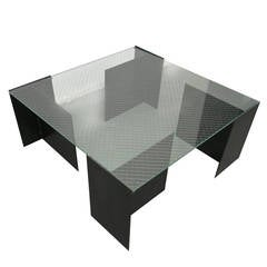 Coffee Table by Richard Troy for Art & Industry Soho NYC, 1980