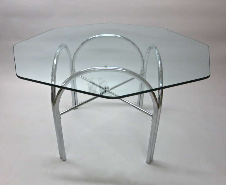 Outdoor Dining Table with Octagonal Glass Top at 1stdibs : IMG3784l from www.1stdibs.com size 768 x 630 jpeg 23kB