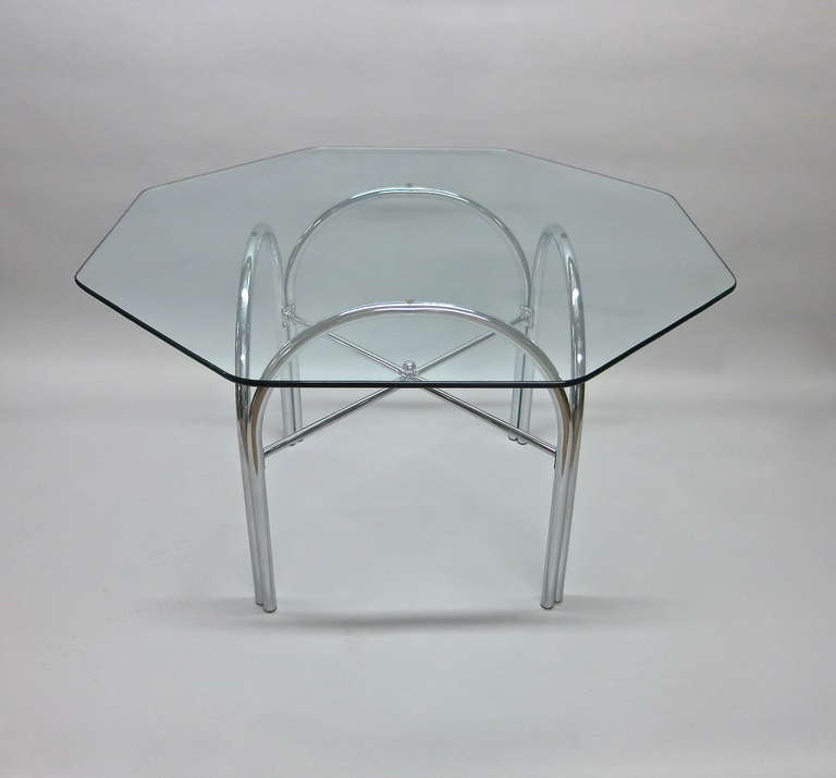 Outdoor Dining Table with Octagonal Glass Top at 1stdibs : IMG3792l from www.1stdibs.com size 768 x 715 jpeg 22kB