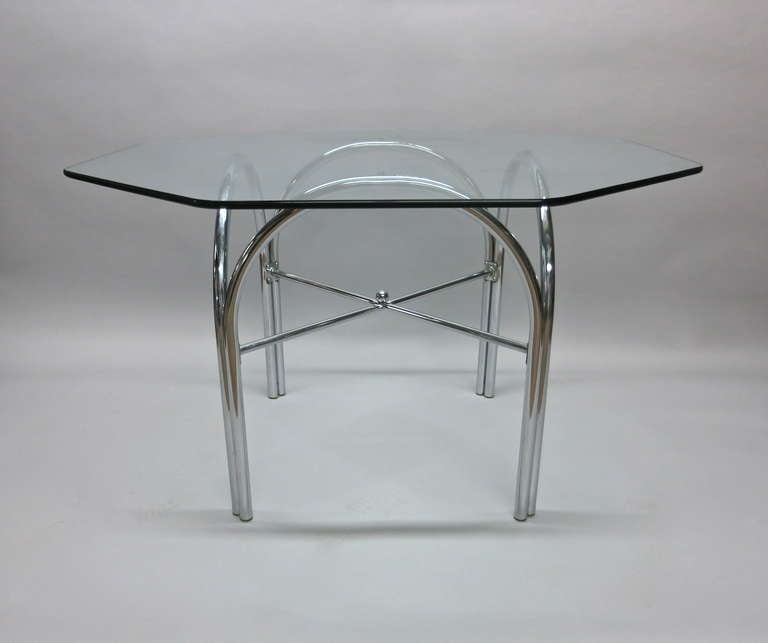Outdoor Dining Table with Octagonal Glass Top at 1stdibs : IMG3801l from www.1stdibs.com size 768 x 643 jpeg 20kB