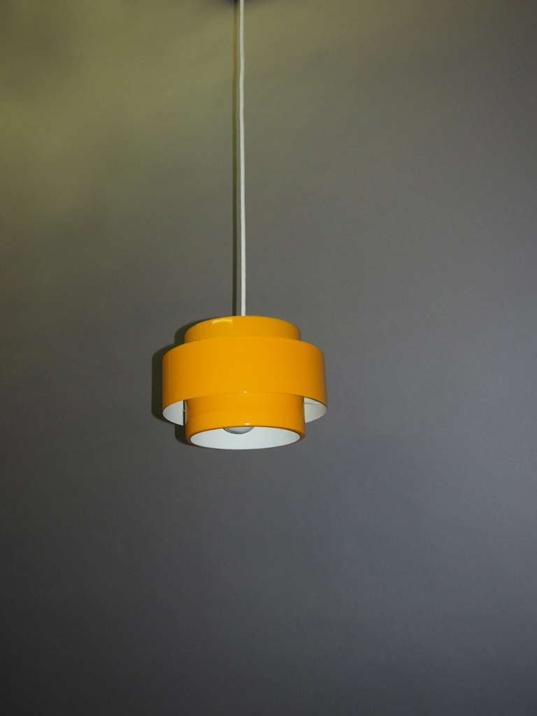 Ceiling Lights Yellow : Three yellow quot juno ceiling lights by jo hammerborg for