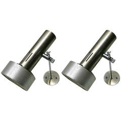 Three Wall lights by Alain Richard for Disderot Circa 1960 Made in France