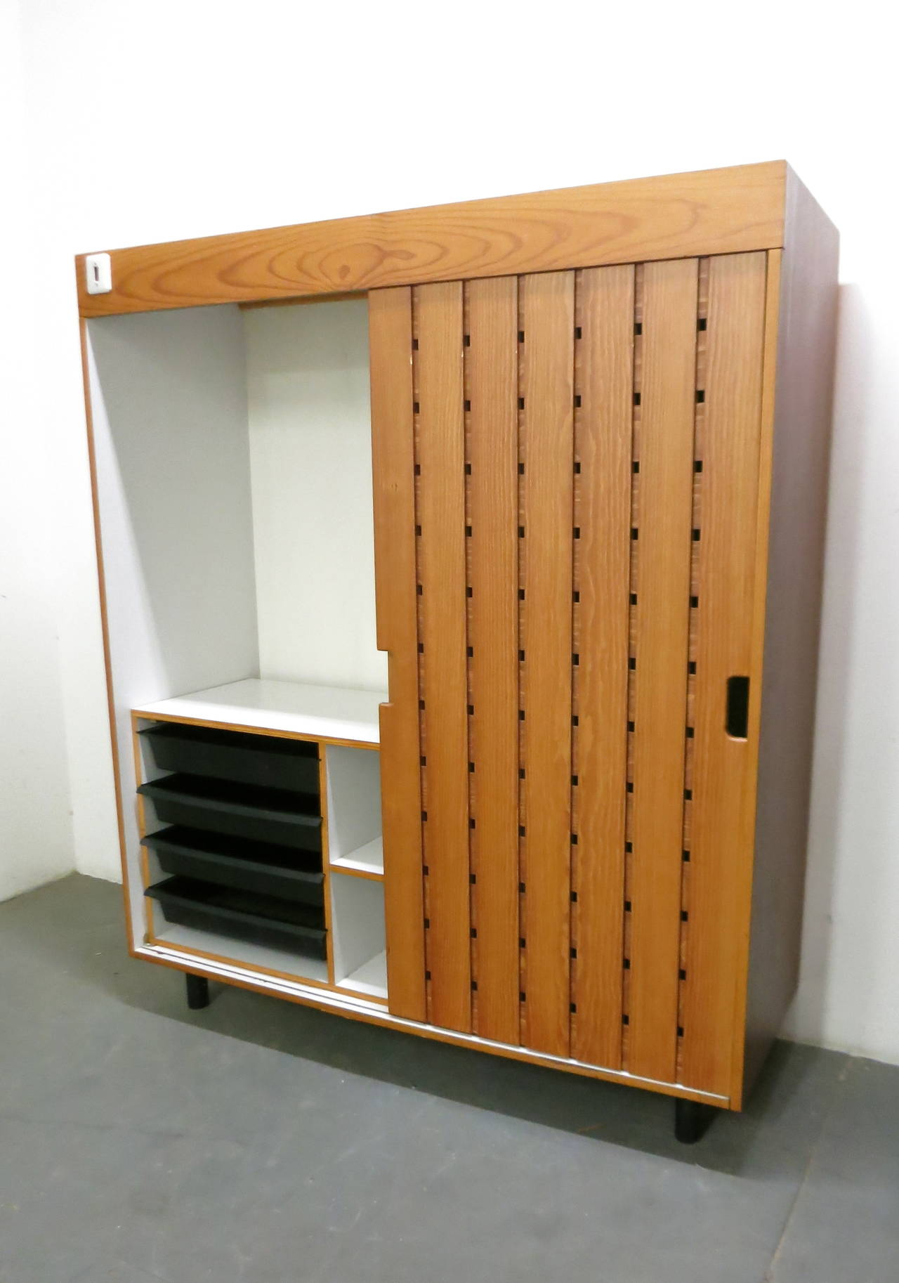 French Pair of Wardrobes by Charlotte Perriand, in 1967 for Les Arc Ski Lodge, France For Sale
