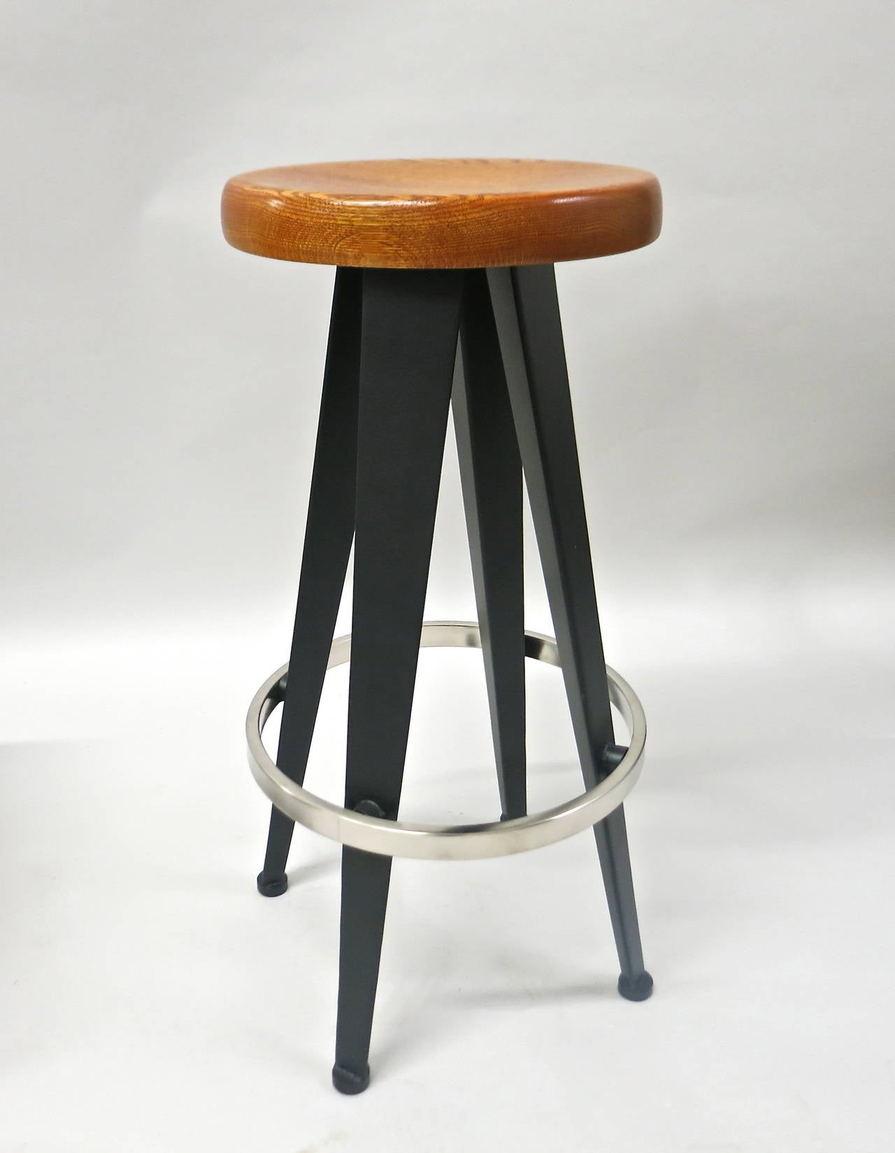 six bar stools original design by jean prouv in 1950