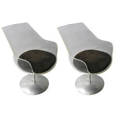 Pair of Champagne Chair Designed by Irwin & Estelle Laverne, 1957, American