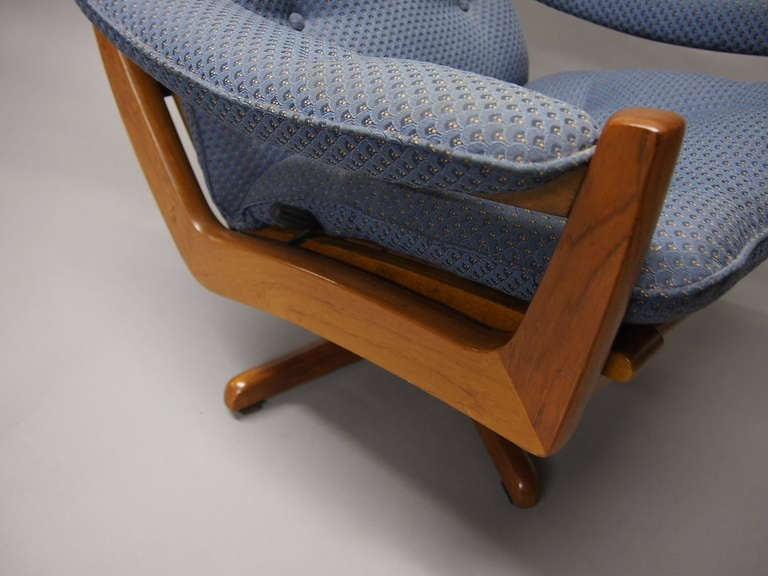 Swivel Chair and Ottoman by Vatne Mobler Norway 1960s at 1stdibs