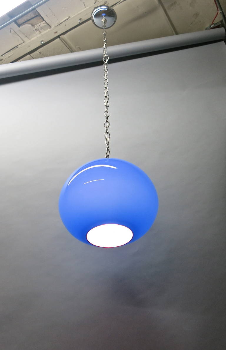 Long Glass Pendant Light Images