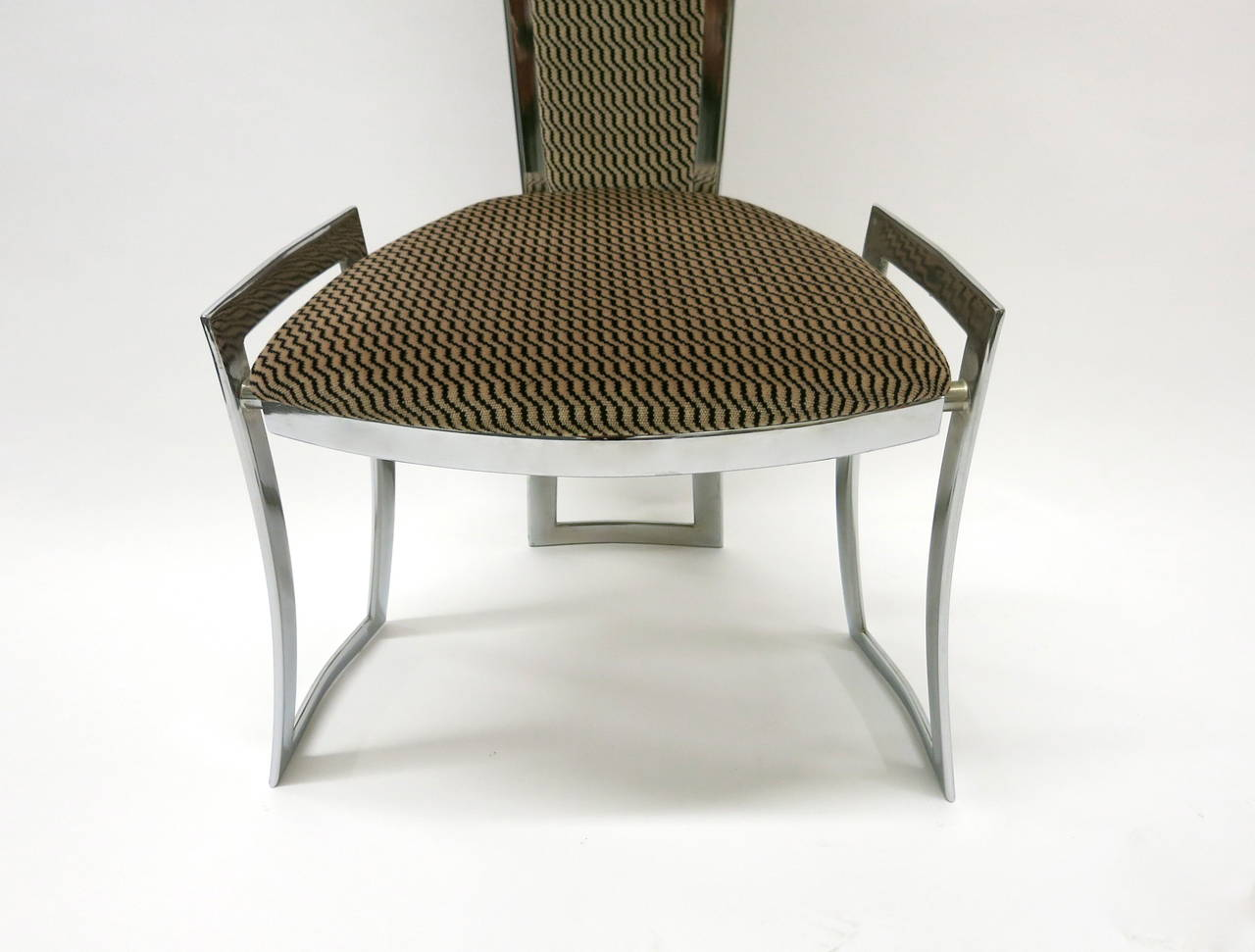 Set Of Eight Dining Chairs B B Italia Circa 1980 Made In