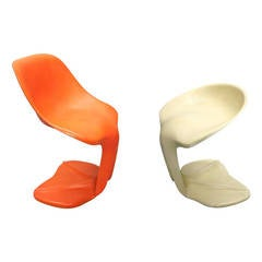 Pair of Chairs by Jean Dudon Circa 1970 Made in France