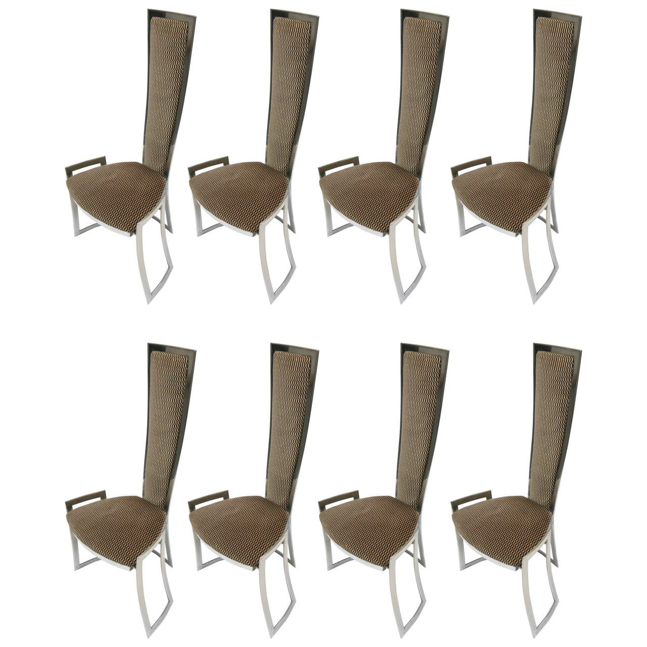 Set of eight dining chairs b b italia circa 1980 made in for 1980s chair
