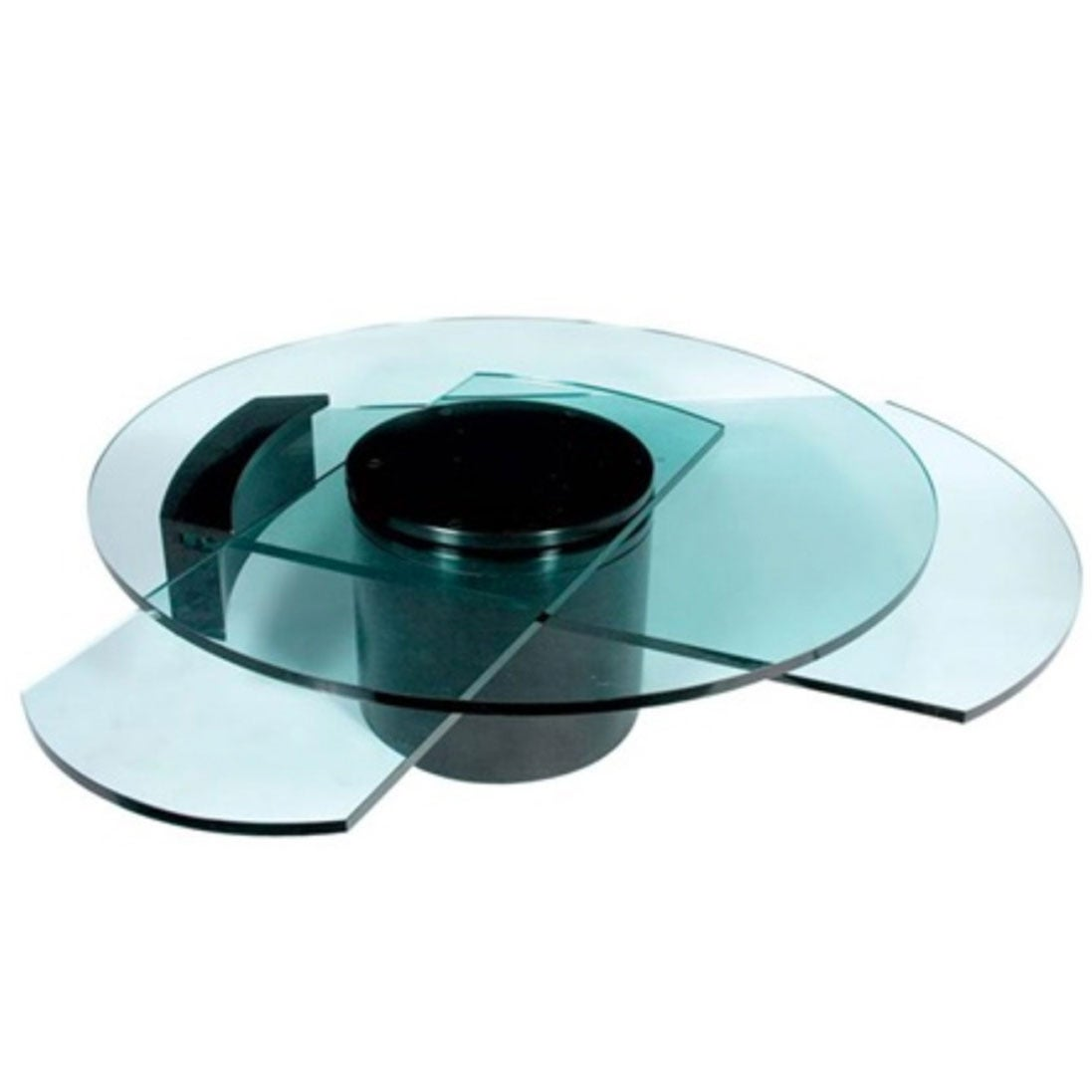 Rotating Glass Coffee Table Designed In 1978 By Dakota Jackson Made In Usa At 1stdibs