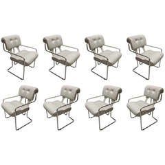 8 Tucroma Chairs by Guido Faleschini All Labeled Pace Collection Italy C. 1970