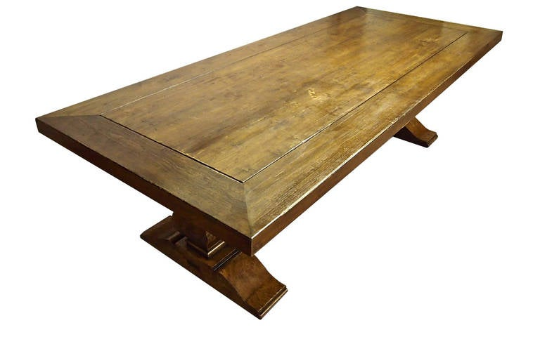 Ten foot solid oak dining table louis xiii style at 1stdibs for 7 foot dining room table