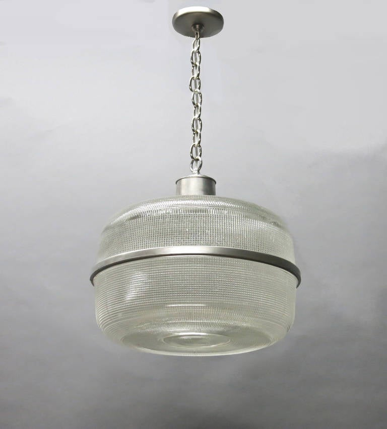Ten Ceiling Fixture Available In Holophane Glass, Circa