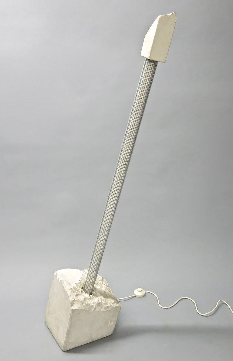 Sculptural Floor Lamp, Signed Renaud Marchand, Paris France at 1stdibs -> Munari Quartz