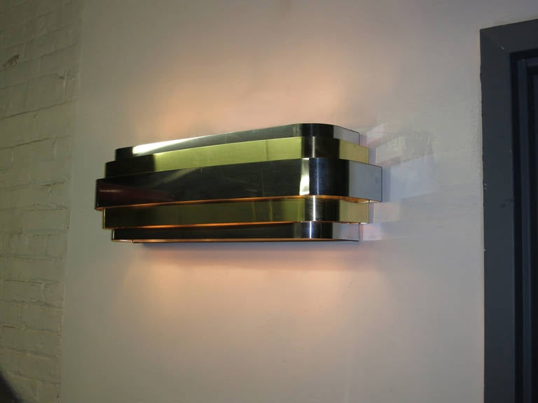 Pair of Sconces by Lightolier, circa 1970 Made in USA at 1stdibs