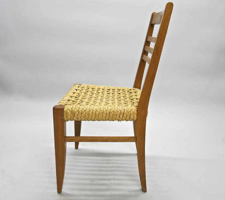 Rope Pair of Chairs by Adrien Audoux and Frida Minet Circa 1950 France For Sale