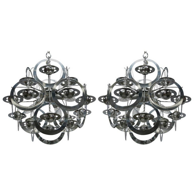 Ceiling Fixtures, circa 1960 Made in Italy