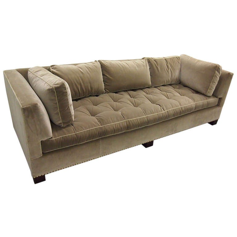 Custom Made Sofa in Velvet and in the style of Dunbar Circa 1980 American 1  sc 1 st  1stDibs : custom made sectionals - Sectionals, Sofas & Couches