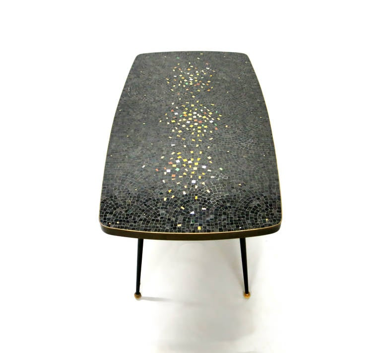 Coffee Table With A Mosaic Tile Top Circa 1950 France At 1stdibs