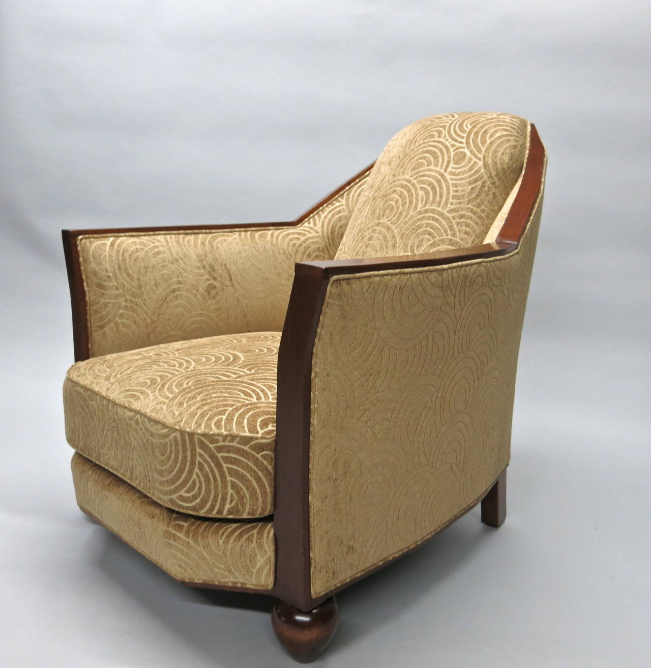 art deco chair attributed to pierre chareau circa 1930 made in france for sale at 1stdibs. Black Bedroom Furniture Sets. Home Design Ideas