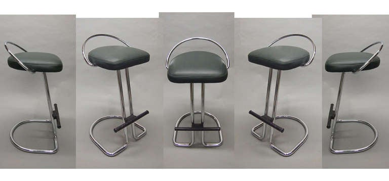 Pair of Stools Labeled Made in Italy Circa 1965 image 2