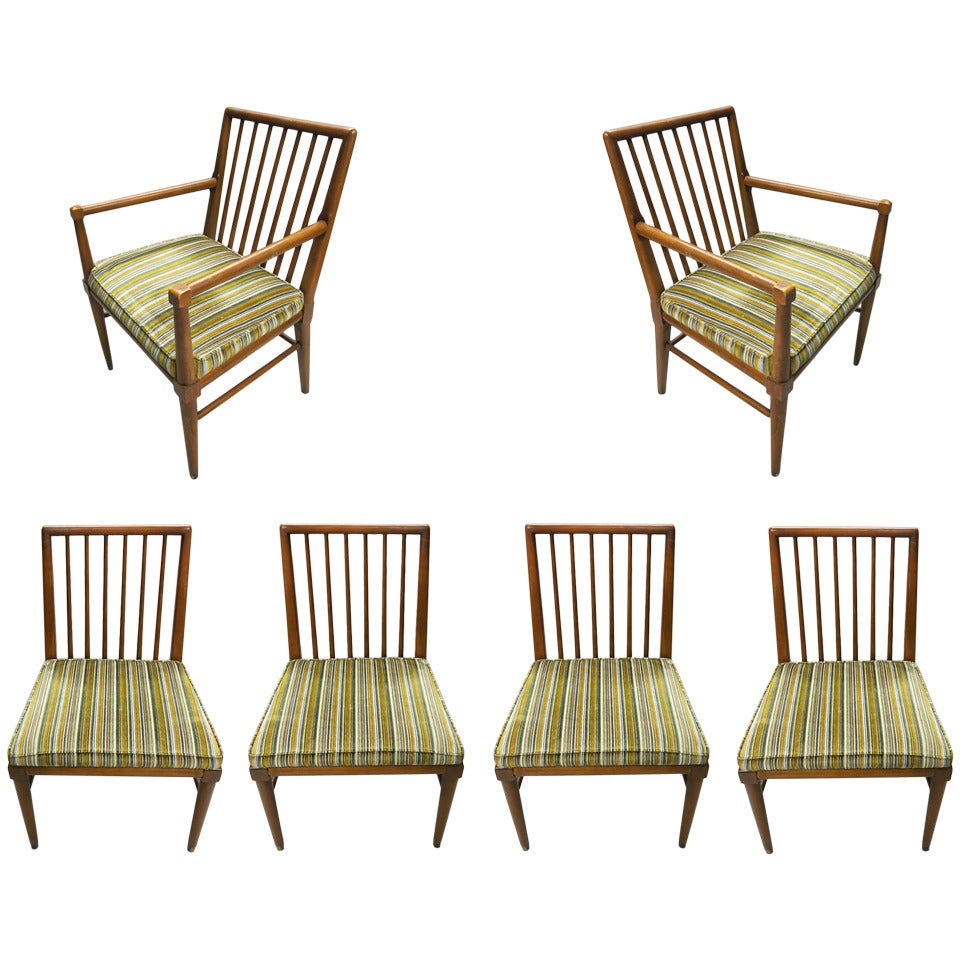 Set of six dining chairs by john widdicomb circa 1950 for Dining room tables made in usa