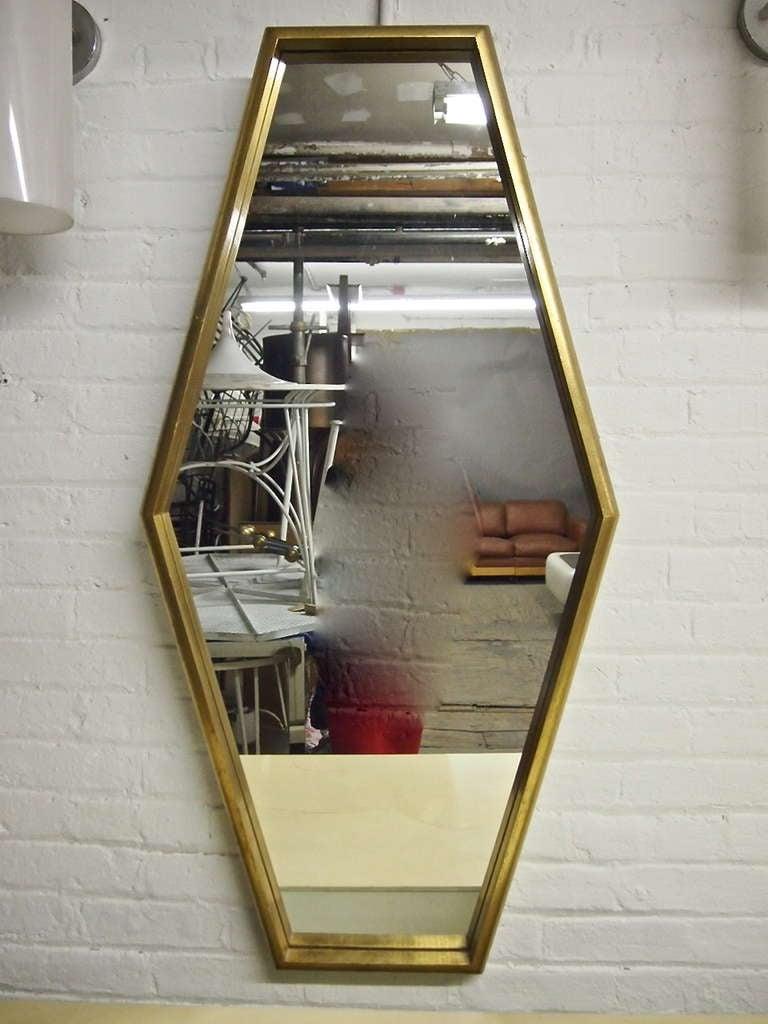 Gilt Frame Hexagonal Mirror Can Hang Horizontally Or