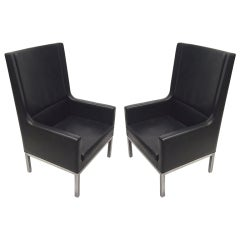 Pair of Chairs after Florence Knoll Circa 1960 American