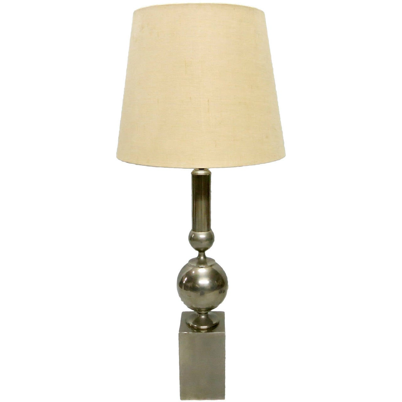 Single Tall Table Lamp By Philippe Barbier Circa 1970