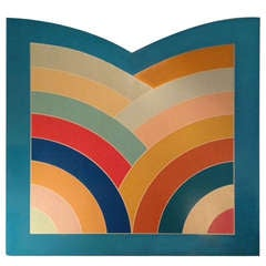 """Frank Stella Metropolitan Museum """"M"""" commissioned for Centennial Celebration marked #2 1969-70 American"""