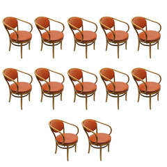 12 Dining Chairs by Thonet  all labeled and dated 1950's Made in America