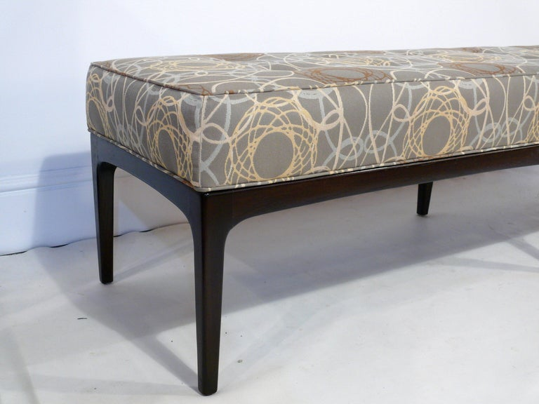 72 Mid Century Modern Upholstered Bench at 1stdibs