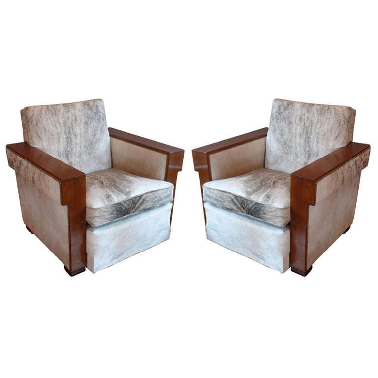 Pair of Jean-Michel Frank club chairs, 1930s