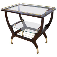 Three-Tier Bar Cart in the Manner of Gio Ponti