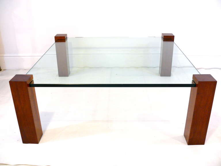28 floating glass coffee table floating walnut and glass co