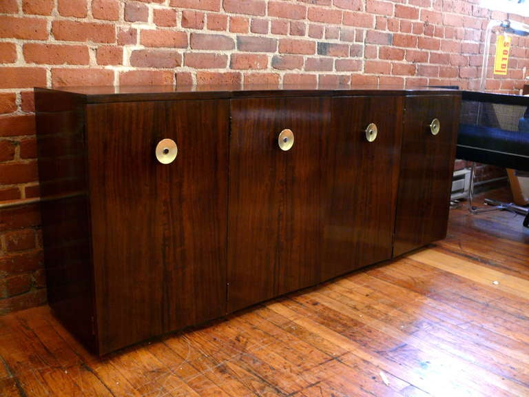 Gilbert Rohde Scalloped Four Door Credenza At 1stdibs